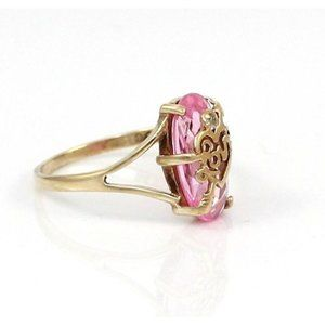 Solid 10K Gold Natural Diamond Accent Ring 5.25